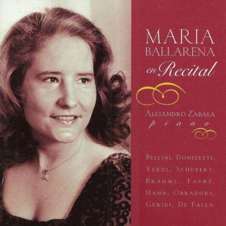 Maria Ballanera en recital